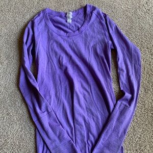 Lululemon Long Sleeve Shirt, Size 4, Purple